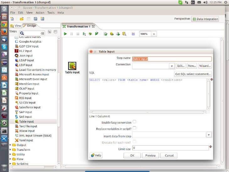 How to use Data Integration Tool in Pentaho BI